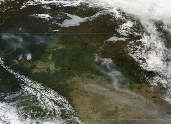 wildfires burn across northwester Canada