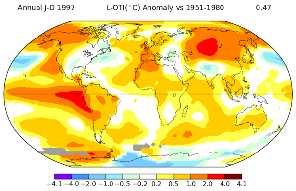 1997 Temperature Anomaly