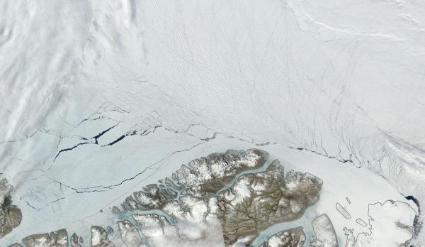 This is What A Fossil Fuel Dystopia Looks Like — The Arctic Sea Ice is Breaking Up North of Greenland in June