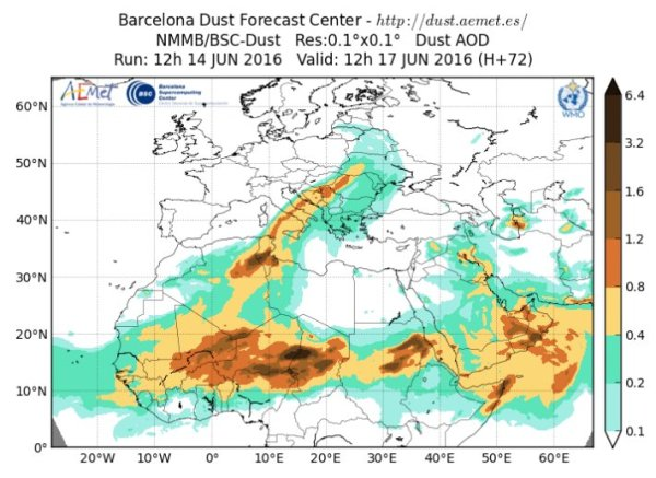Dust Storm Forecast