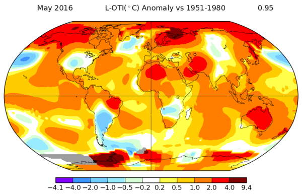 Global Temperature record again set in May