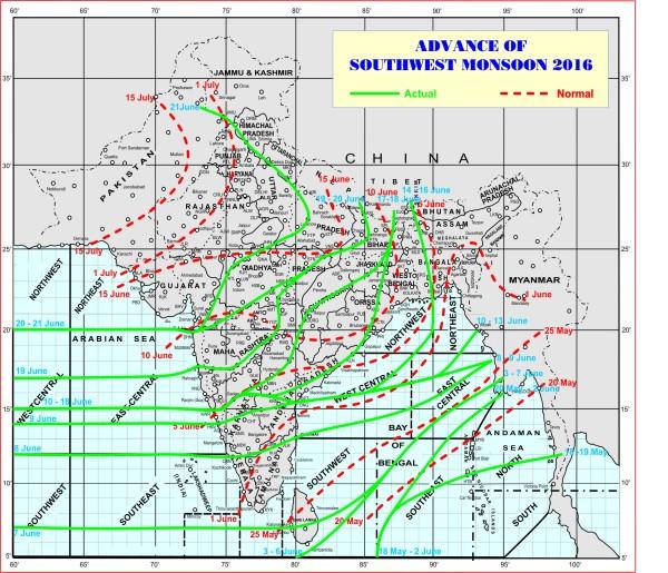 India Monsoon 2016