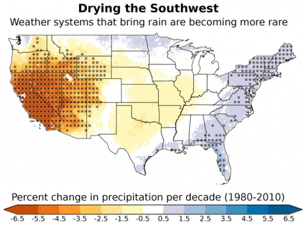 Southwest Becoming Drier