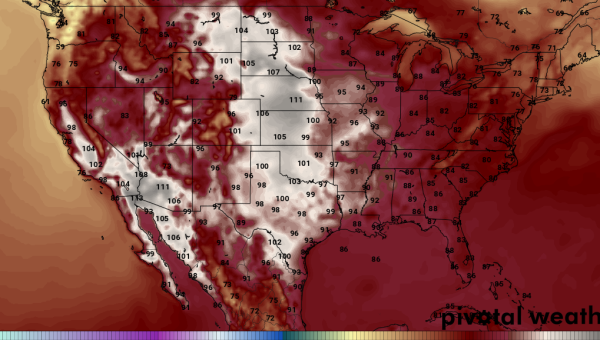 111 degree temperatures Central US