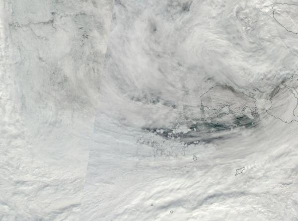 Arctic Storm East Siberian Sea Laptev