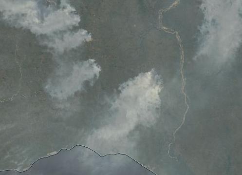 Fires near Nuya Russia
