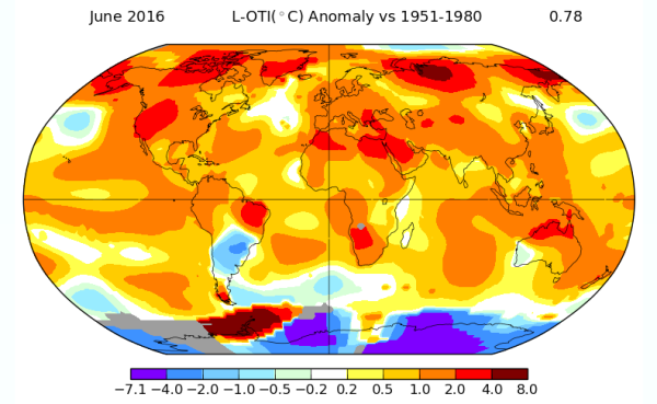 June of 2016 Anomaly Map