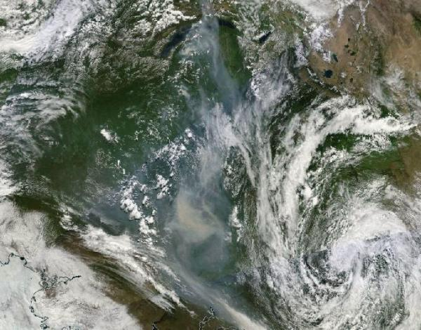 Massive Siberian Wildfires June 30