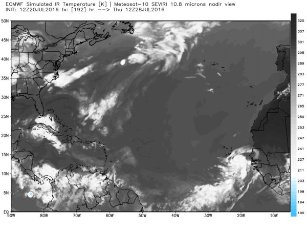 Predicted tropical wave