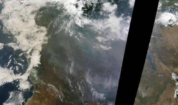 Smoke From African Wildfires