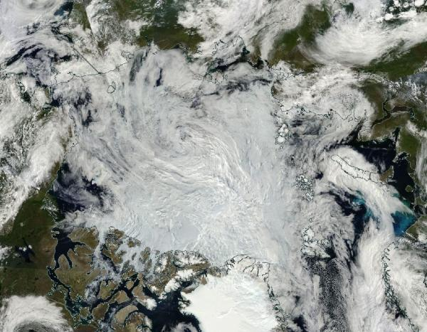 Arctic Sea Ice August 9 2016