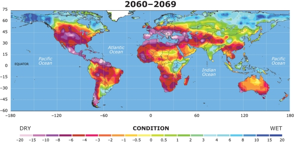 Drought Zones Expand under global warming