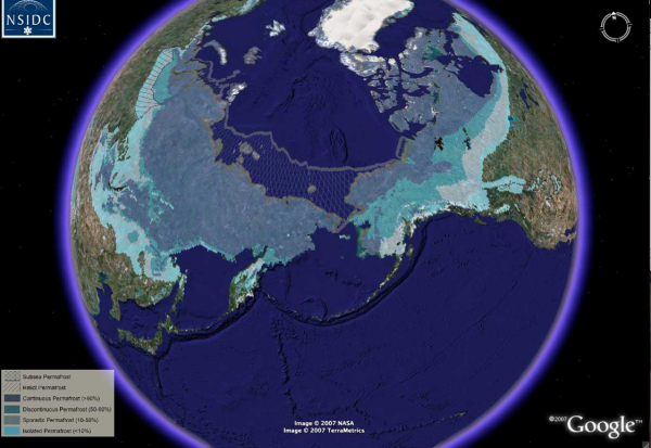 Extent of Permafrost NSIDC