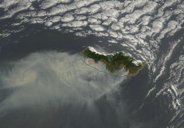 Madeira fires August 10 2016 NASA