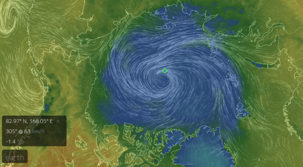 Powerful Arctic Cyclone