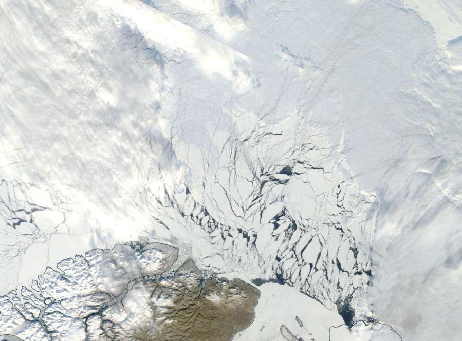 last-bastian-of-multi-year-ice-breaking-up