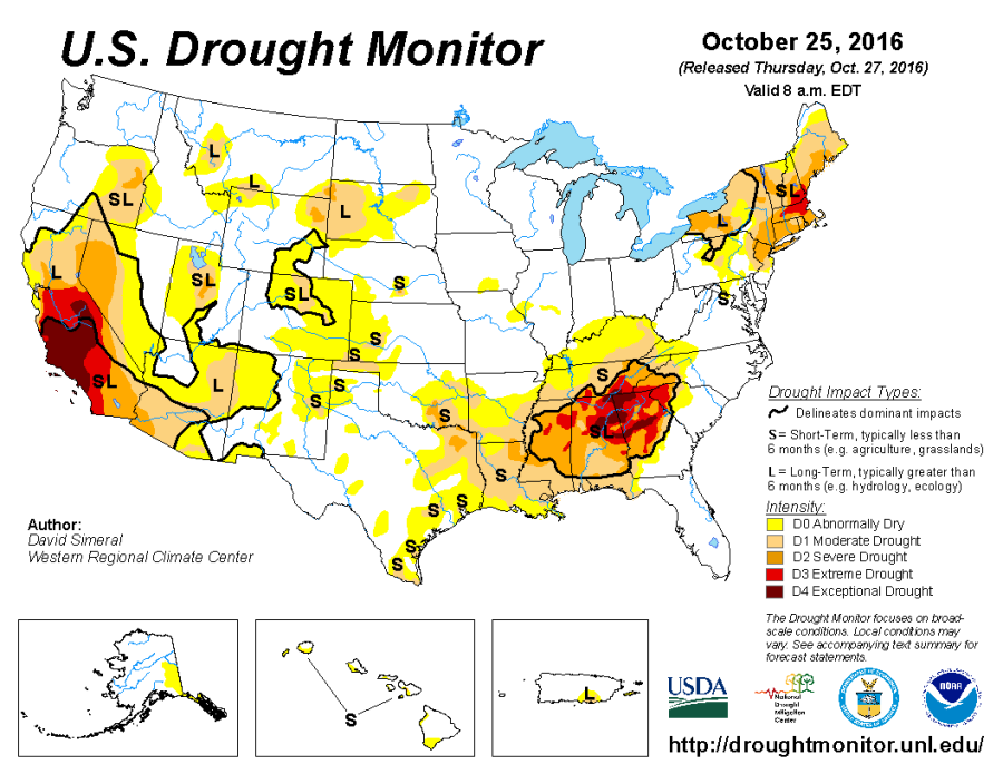 Us Drought Map us drought map current | robertscribbler Us Drought Map