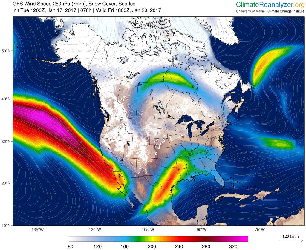 Warm Atmospheric River Aims Parade of Storms at U S  West During La