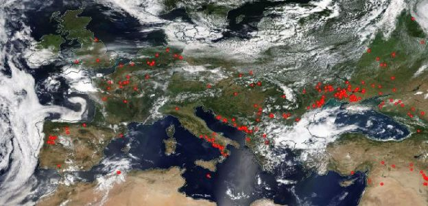 Europe wildfires