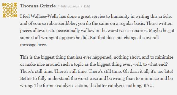 Thomas Grizzle Comment