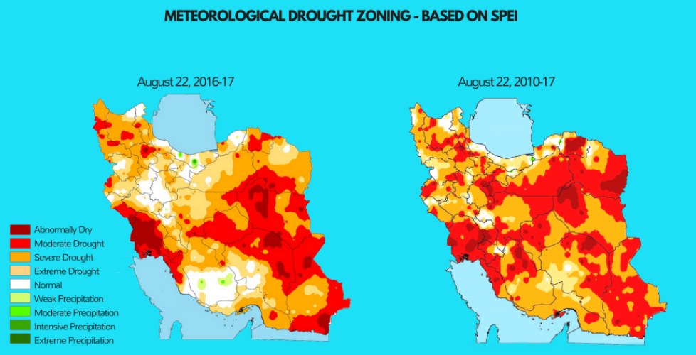 Iran Drought Map 2 | robertscribbler