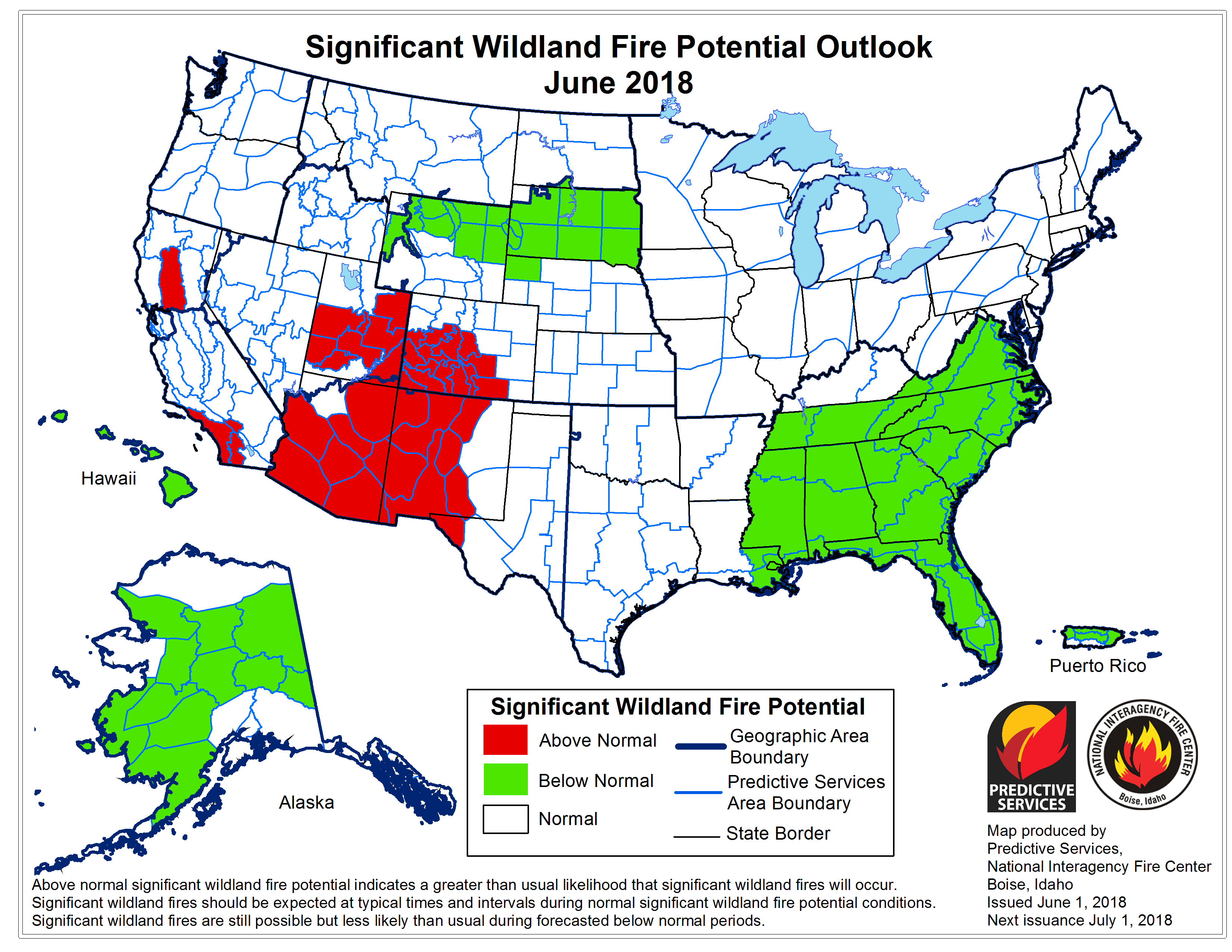 Worrisome U S Wildfire Risks Leading Into Summer Of 2018