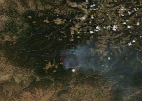 Spring Creek Fire burn scar