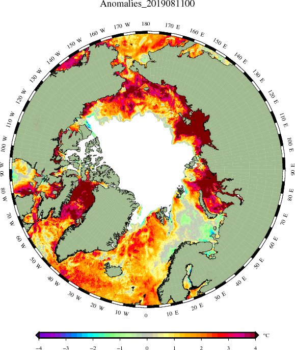 Melting Ice Everywhere Arctic Sea Ice Extent Hit New Record Lows In Late July And Early August Robertscribbler