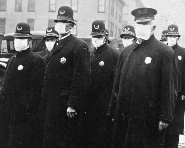 Seattle Police Wearing Masks During the 1918 Flu Pandemic